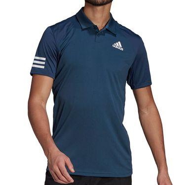 adidas Club 3 Stripe Polo Shirt Mens Crew Navy/White GL5458