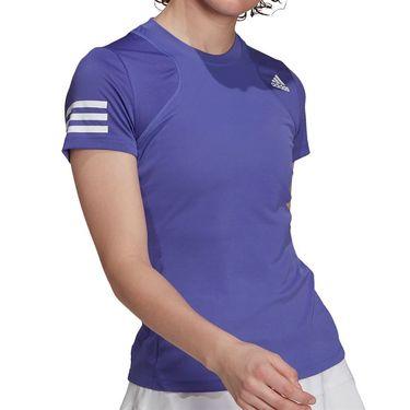 adidas Club Tee Shirt Womens Purple/ White GL5801