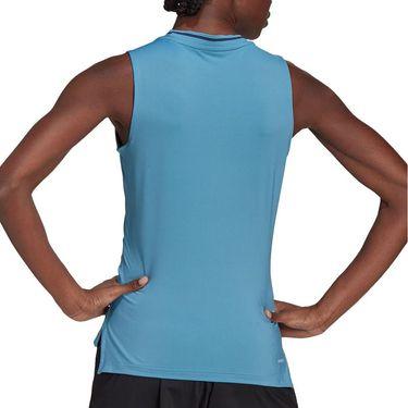 adidas Match Tank Womens Hazy Blue/White GL6081
