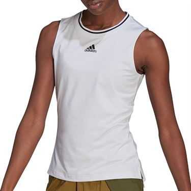 adidas Match Tank Womens White/Black GL6172