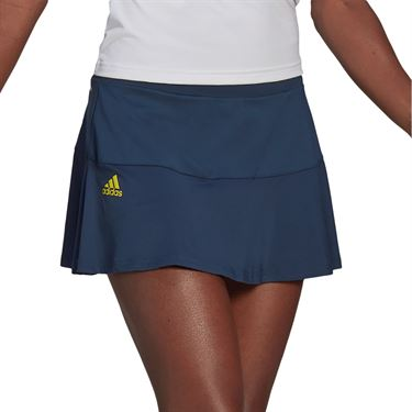 adidas Match Skirt Womens Crew Navy/Acid Yellow GL6202