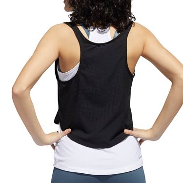 adidas Tech Crop Tank Top Womens Black/White GL7278