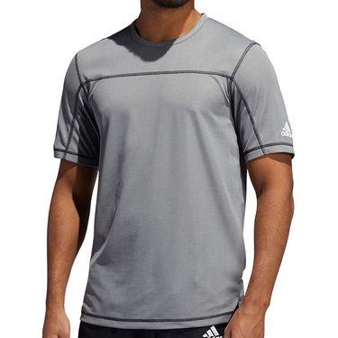 adidas Primeblue Tee Shirt Mens Black Melange GM0471