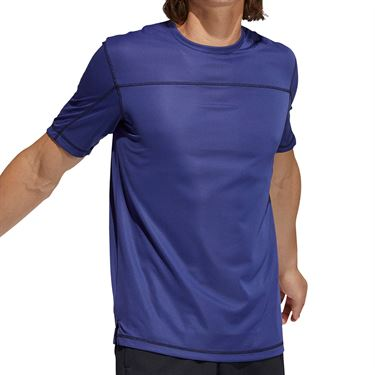 adidas Primeblue Tee Shirt Mens Semi Night Flash Melange GM0474