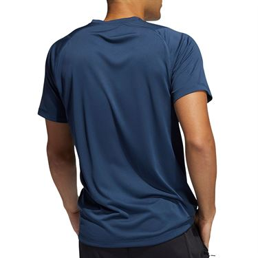 adidas Logo Tee Shirt Mens Crew Navy GM0658