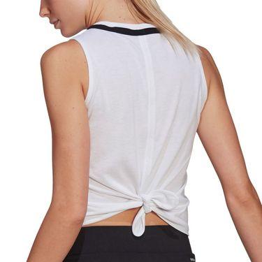 adidas Club Knot Tank Womens White/Black GM5253