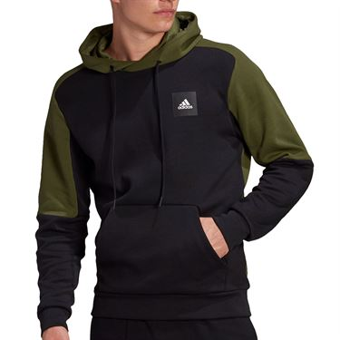 adidas Stadium Hoodie Mens Black/Wild Pine GM6377