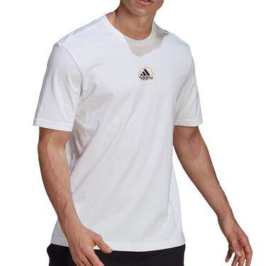adidas Scribble Tee Shirt Mens White GN6860