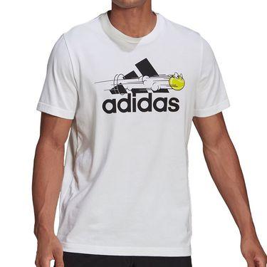 adidas Tee Shirt Mens White GN8058