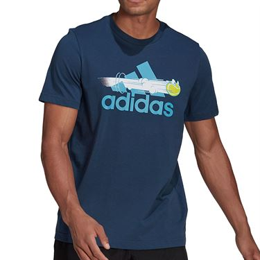 adidas Tee Shirt Mens Blue GN8058