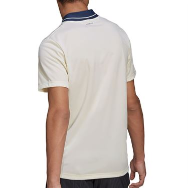 adidas Graphic Polo Shirt Mens Cream White/Crew Navy GP9581