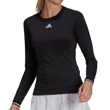 adidas Freelift Long Sleeve Top Womens Black/White GQ1075