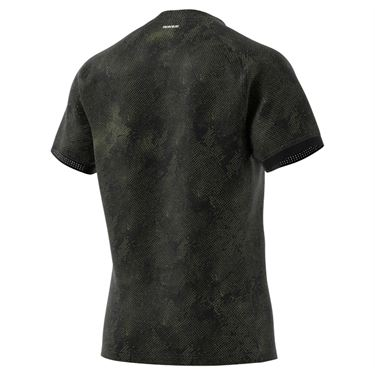 adidas Freelift Tee Shirt Mens Black/Wild Moss/Wild Pine GQ2222