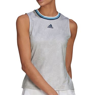 adidas Match Tank Womens White/Crew Navy GQ2240
