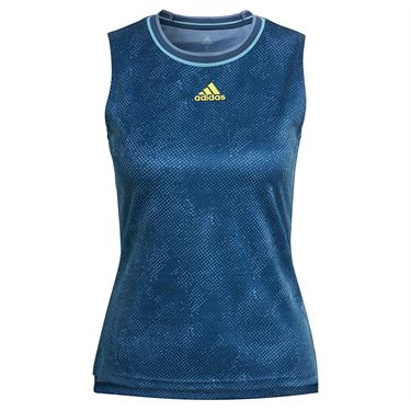 adidas Match Tank Womens Crew Navy/Acid Yellow GQ2241