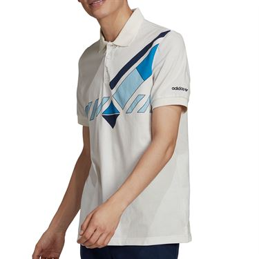 adidas Originals Graphic Tennis Polo Mens White GQ9271