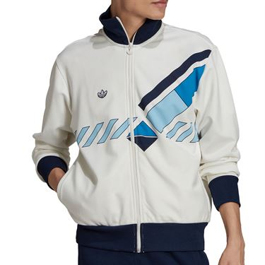 adidas Originals Graphic Tennis Jacket Mens White GQ9272