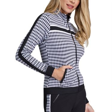 Tail Core Cropped Bomber Jacket - Gingham