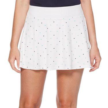 Grand Slam Tennis Fashion Skirt Womens Brilliant White/Tennis Ball Print GSKBSA28 110
