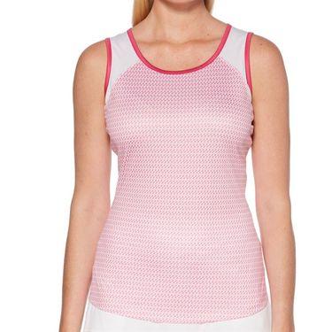 Grand Slam Tennis Fashion Tank Womens Very Berry/Tennis Racquet Print GSKSA032 653