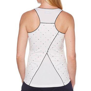 Grand Slam Tennis Fashion Tank Womens Brilliant White/Tennis Ball Print GSKSA033 110
