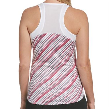 Grand Slam Tennis Fashion Tank Womens Brilliant White/Very Berry Stripe GSKSA0E5 110
