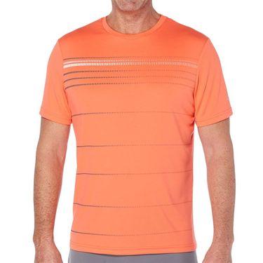 Grand Slam Tennis Crew Shirt Mens Hot Coral GSKSA0H2 823