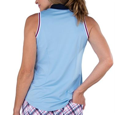 Jofit Cape May Cutaway Rib Mock Top Womens Powder Blue Jacquard GT254 PWB