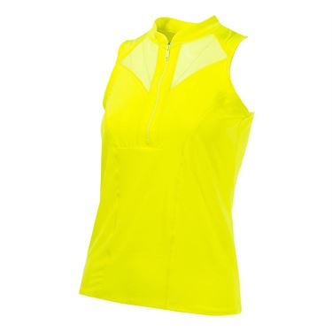 Lucky in Love Boho Sense Temp Zip Golf Tank - Yellow
