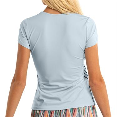 Lucky in Love A Stitch In Time Whip Stitch Top Womens Blue Haze GT98 C27465