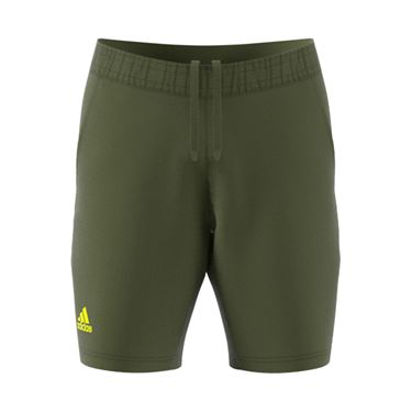 adidas Ergo 9 inch Short Mens Wild Pine/Acid Yellow GU0762