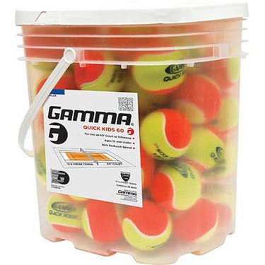 Gamma Quick Kids 60 Tennis Ball 48 Ball Bucket