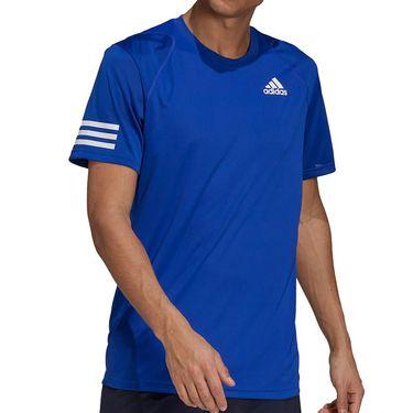 adidas Club 3 Stripe Crew - Bold Blue/White | Tennis-Point