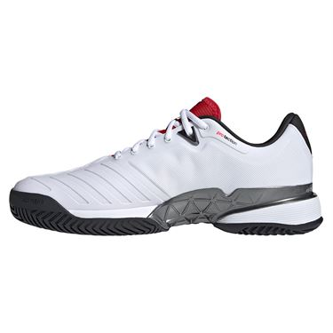 Adidas Barricade Mens Tennis Shoe White/Black/Red H67703