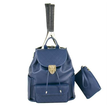 Court Couture Hampton Quilted Navy Tennis Backpack