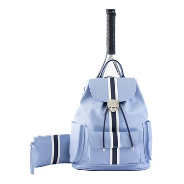 Court Couture Hampton Striped Tennis Bag - Sky Blue