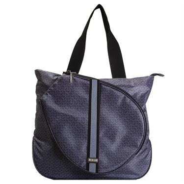 Hadaki Tennis Tote - Blue Stripe Medallion