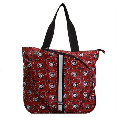Hadaki Tennis Tote - Red Stripe Medallion