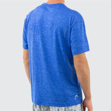 Head Short Sleeve Top Mens Vital Blue Heather HEM181TS33 R476û