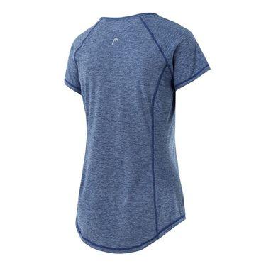 Head Prime Raglan Short Sleeve Top - Medieval Blue Heather