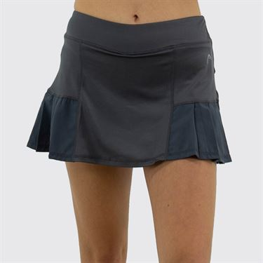 Head Pleated Skirt Womens Medium Grey HEW182SD12 S045