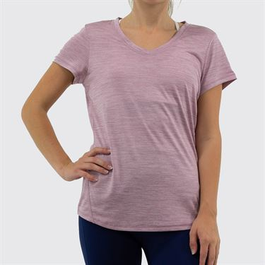 Head Short Sleeve Top Womens Mauve Shadows Heather HEW193TS02 R519û