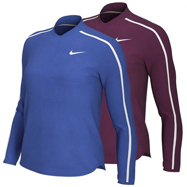 Nike Court Dry 1/2 Zip Long Sleeve Top Holiday 19