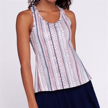 Eleven Ikat Stripe Race Day Tank - Ikat Stripe