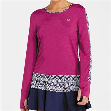Eleven Iman Up Swing Long Sleeve Top Womens Boysenberry IM4294 510