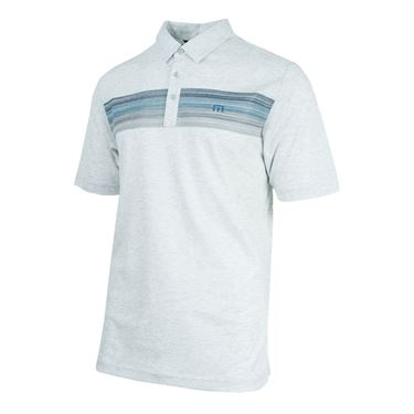 Travis Mathew Mindsurfing Polo - Heather Light Grey