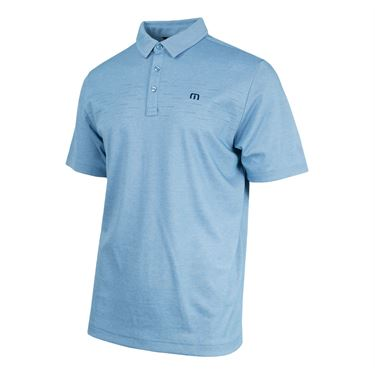 Travis Mathew Instatweet Polo - Heather Bluestone