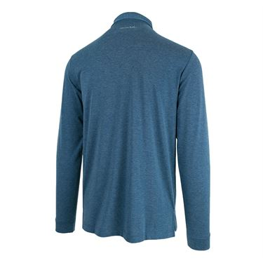 Travis Mathew Backup Plan L/S Polo - Tradewinds/Blue Wing Teal