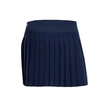 Lacoste Technical Woven Pleated Skirt - Navy Blue