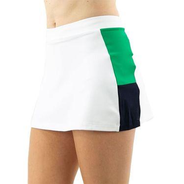 Lacoste Jube Skirt Womens White/Palm Green/Navy Blue JF9493 4FR